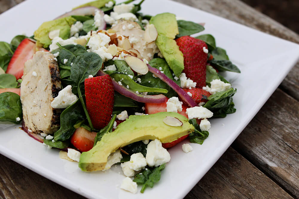 Strawberry Avocado Spinach Salad with Chicken (Photo: Chelsi Fisher)