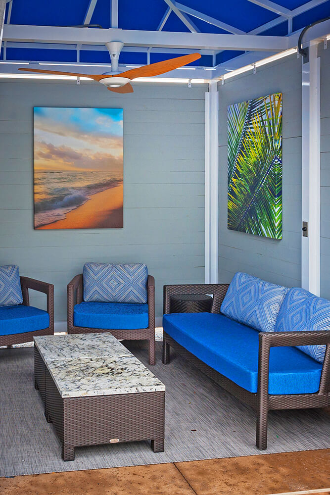 Cabana rentals are available for registered hotel guests and can accommodate six while cabana suites allow for a dozen of your friends or relatives.