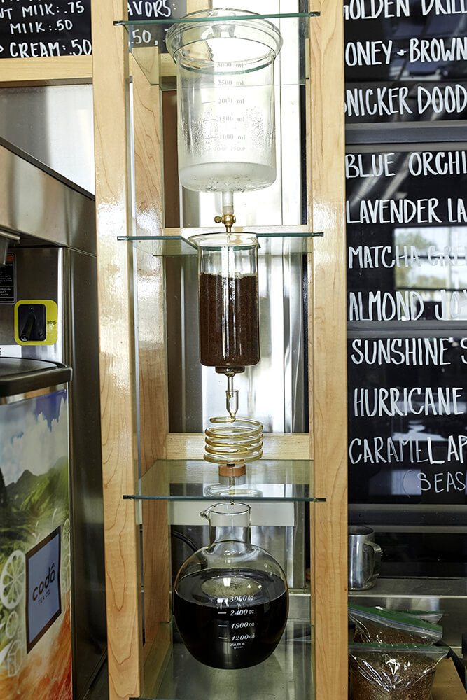 The Japanese cold brew (or tower) method is a popular way of brewing iced coffee in Asia. (Photo: Sarah Eliza Roberts)