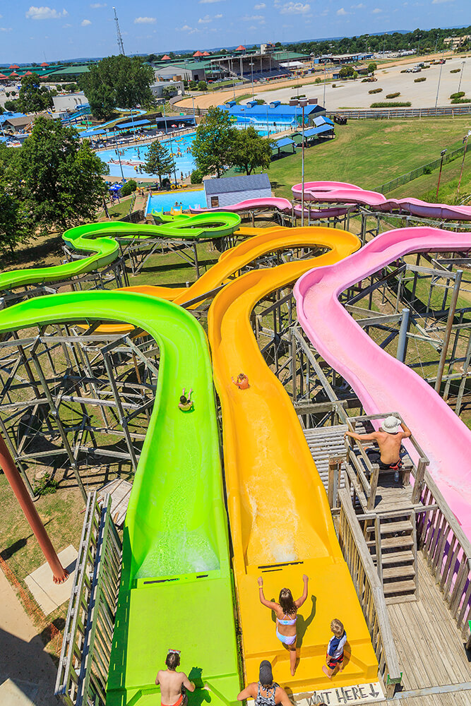 This is the second year for the Reptile Rush, a set of three slides that are the pinnacle of the park and hard to miss from even a distance. (Photo: Darcy Daniels)
