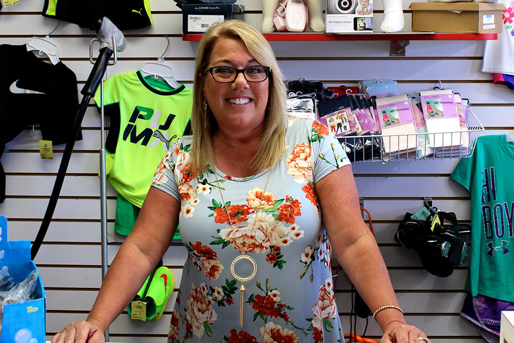 Children's Orchard owner Margie Quinlan says consignment stores have really stepped up their game in the last few years. (Photo: Chelsi Fisher)