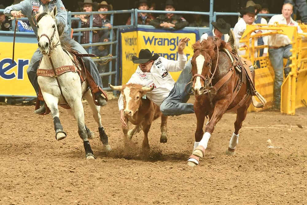 Steer Wrestling (Photo: Dan Hubbell)