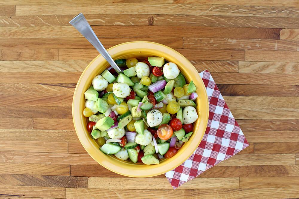 Veggie Mozzarella Salad (Photo: Chelsi Fisher)