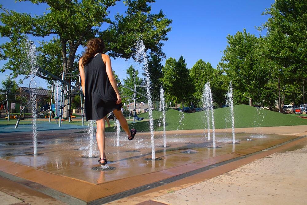 We like to take a second and splash through the fountains in Riverside Park on a hot morning and really look forward to coming through on an evening to try the shaved ice.