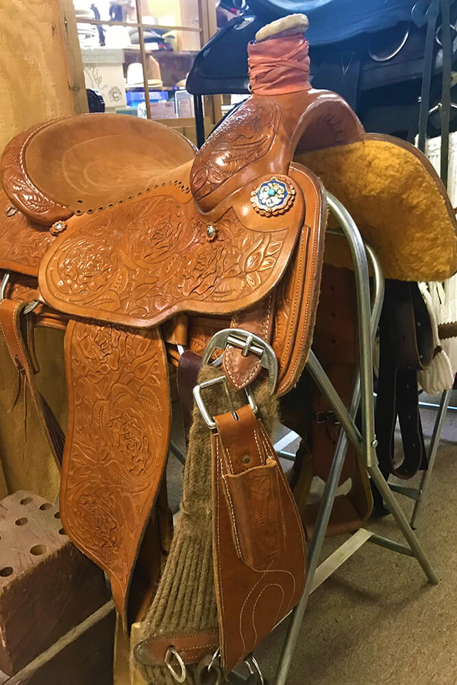 For third generation saddlemakers Bret and Greg Mock of Sand Springs, the start of any custom build begins with a discussion about what type of riding a client does. (Photo: Jennifer Zehnder)