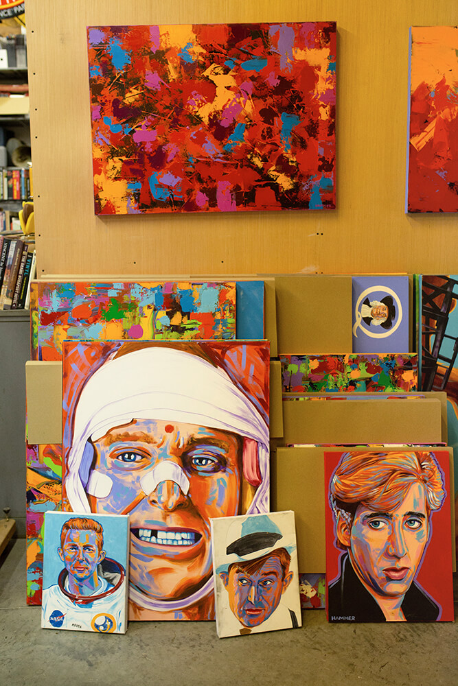 John Hammer's distinctive, colorful, pop art painting style is striking and attention-grabbing. (Photo: Sarah Eliza Roberts)
