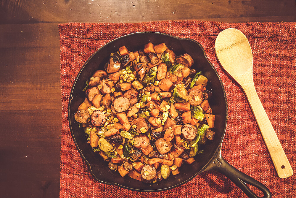 Maple Glazed Two-Sausage Skillet (Photo: Sarah Herrera)