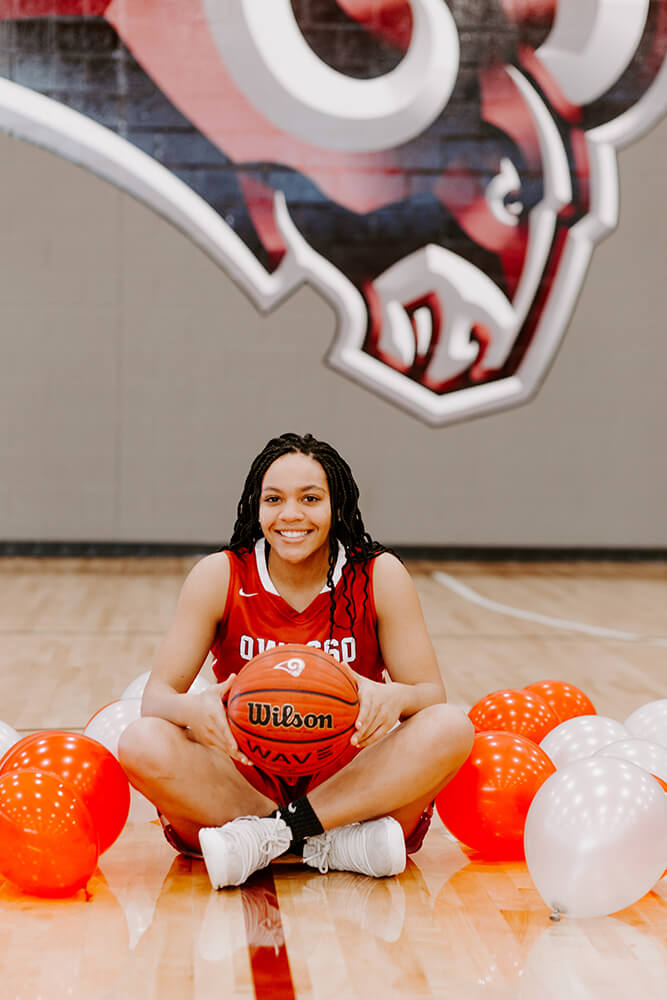 Riley Boone, who also ran track, started on Owasso's basketball squad that won the Class 6A state championship in 2018. (Photo: Sarah Eliza Roberts)
