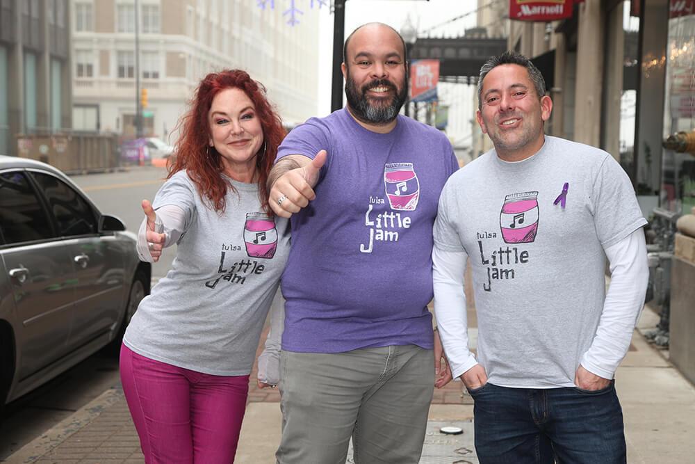 The Tulsa Little Jam team: Meg Sutherland, Carlos Moreno and Juan Reinoso. (Photo: Marc Rains)