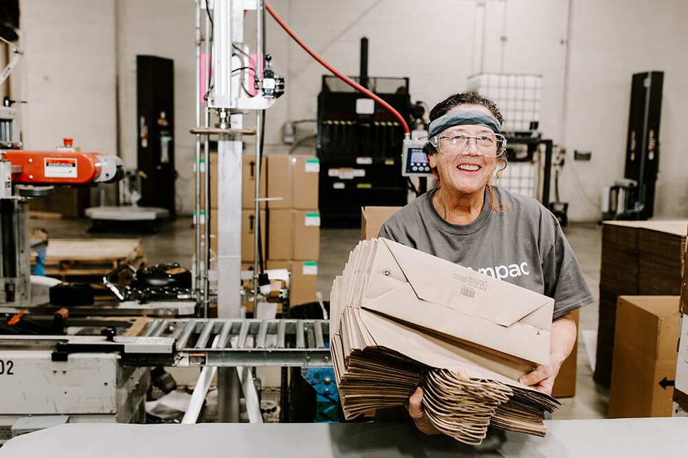 Donnabeth Mitchell, one of the participants of A Better Way who works at Tulsack these days, is grateful for the help she has received through the program. (Photo: Sarah Eliza Roberts)