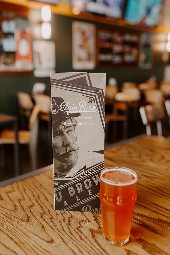 Alongside the Elgin Park brews on tap are a nice selection of guest brews and in-house specials. (Photo: Sarah Eliza Roberts)