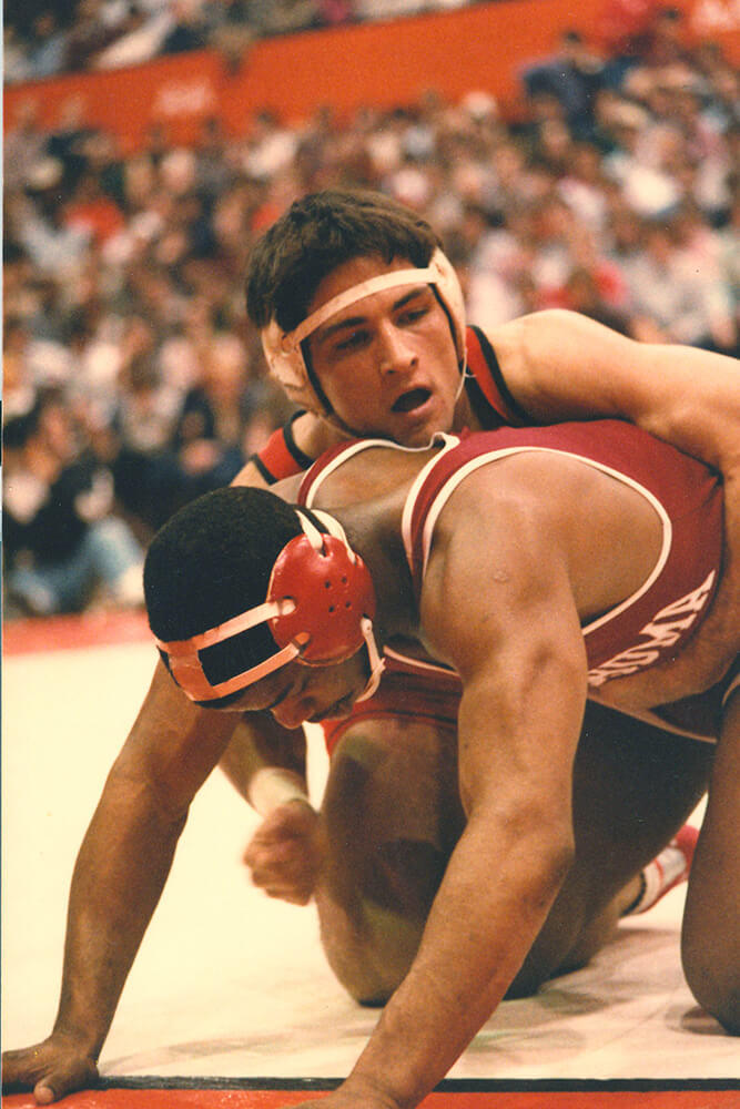 Sheets had an outstanding college career at Oklahoma State that featured individual NCAA titles in 1983 and '84.