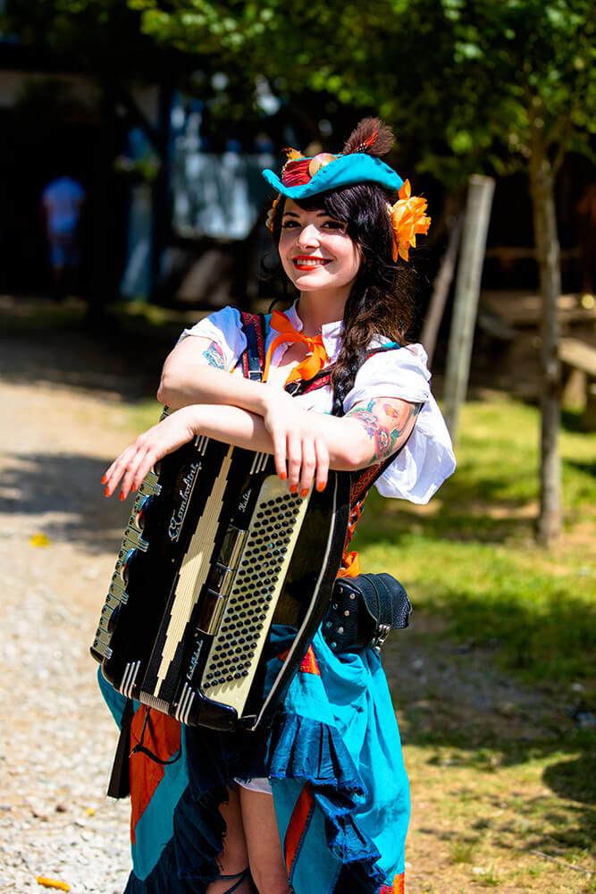 The Renaissance Festival is a playground for both adults and children.