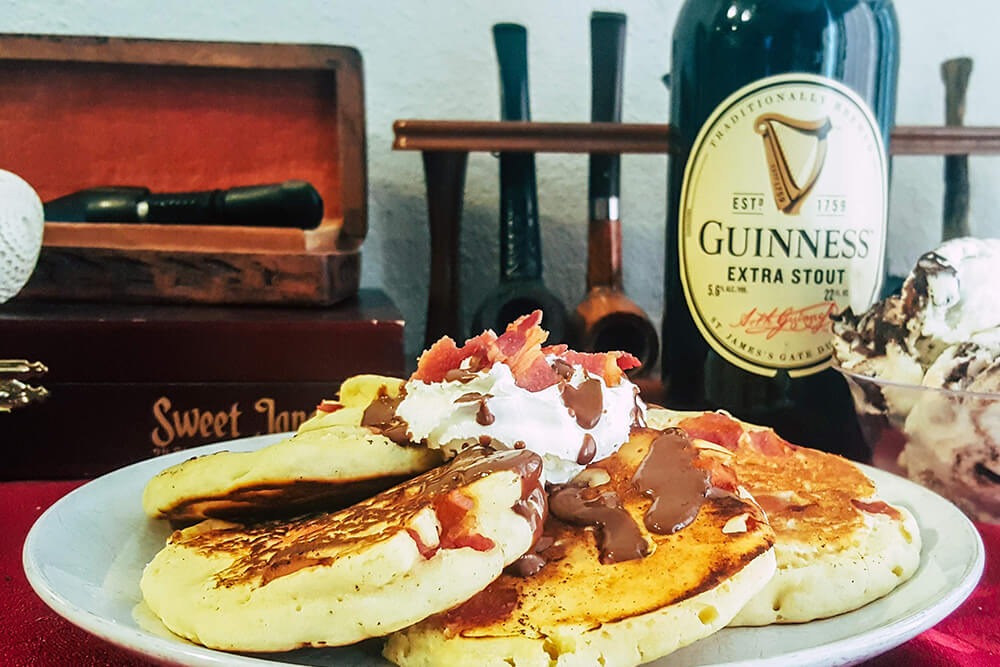 Bacon Guinness Chocolate Pancakes (Photo: Sarah Herrera)