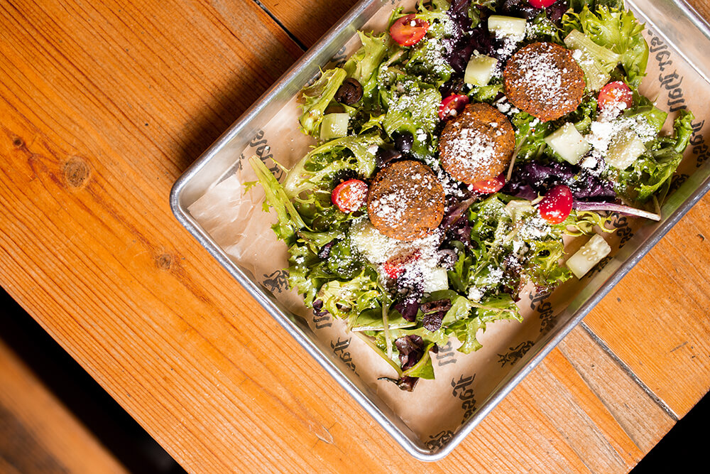 Haus Salad with Falafel (Photo: Sarah Eliza Roberts)