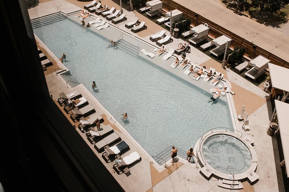 Hard Rock Hotel &CasinoTulsa pool area.