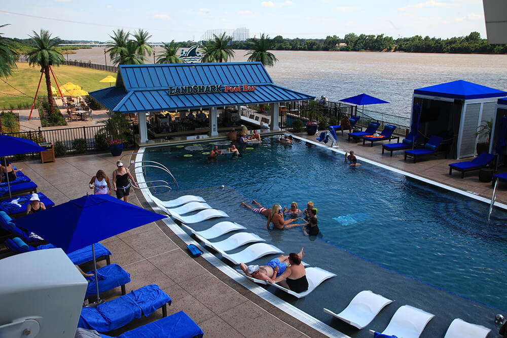 River Spirit Casino Resort pool area.
