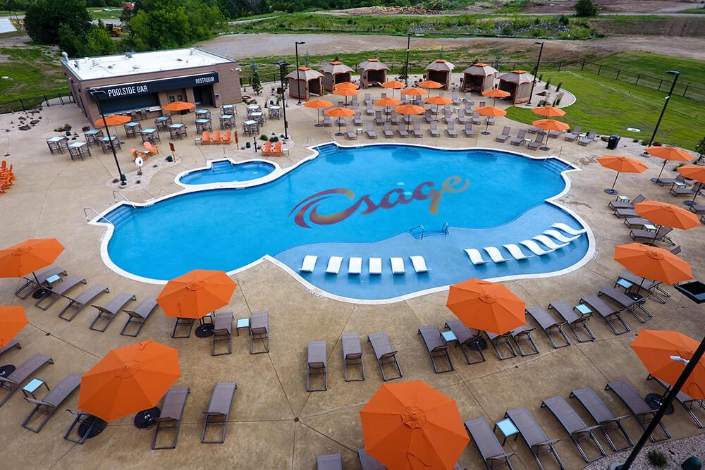 Osage Casino Hotel pool area.
