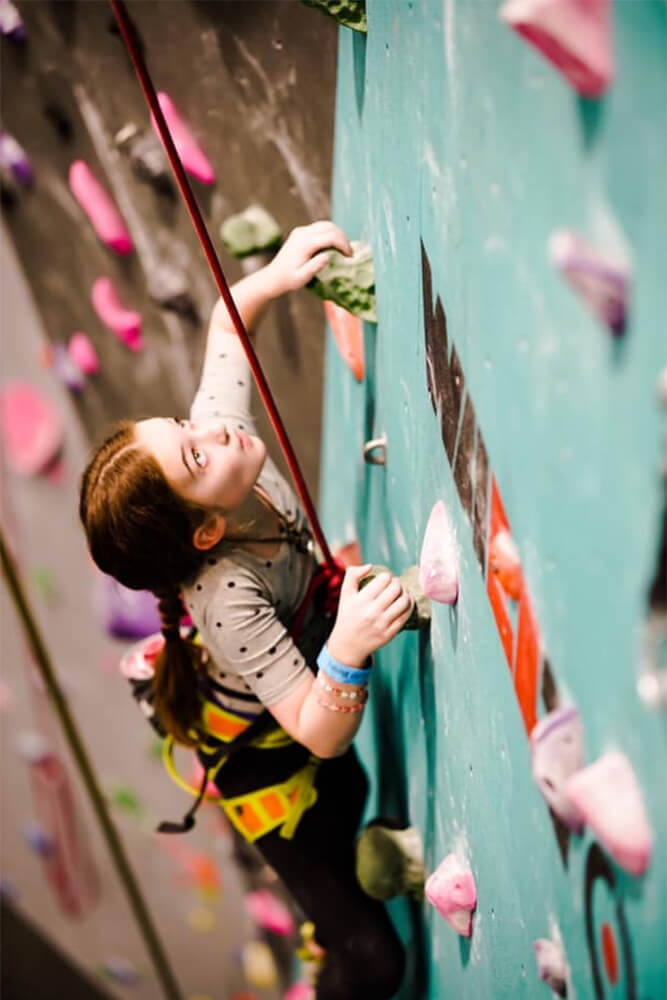 For less than $50 a day, your children can climb some of the 20,000-square-feet of walls at Climb Tulsa.