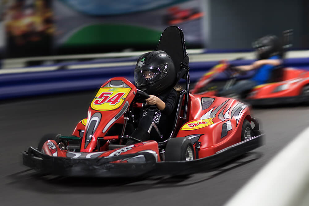 Hop in a race kart, buckle up and drive insanely fast on a real Formula-1 style asphalt track at Xtreme Racing and Entertainment.