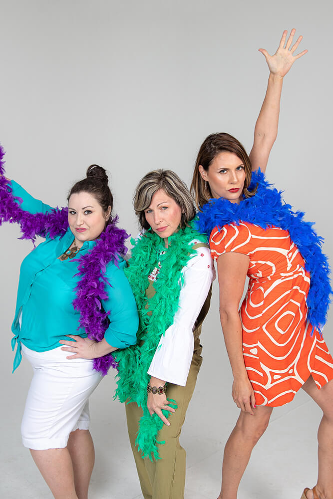 Donna and the Dynamos featuring Ashlee Osborn (center) as Donna Sheridan.