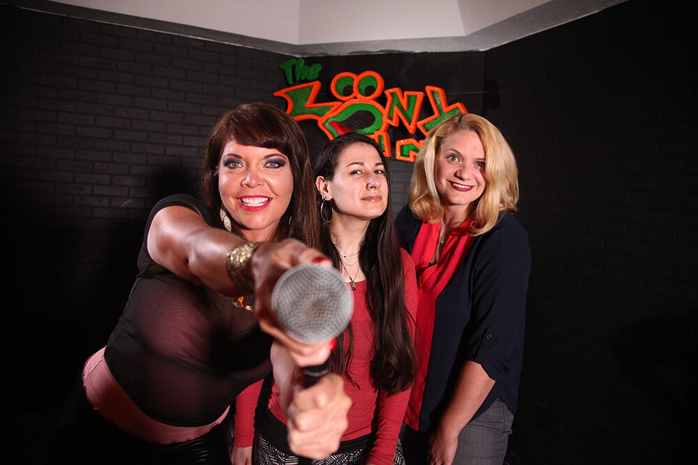 Angela Teague, Zehava Glazier, and Nicole Miller. (Photo: Marc Rains)