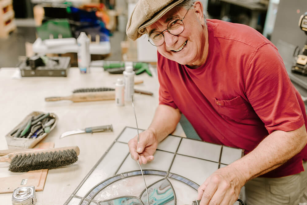At Tulsa Stained Glass, owner and artisan Richard Bohm has been serving Green Country area homeowners, businesses, nonprofits, and just about anyone else who has a passion for stained glass. (Photo: Sarah Eliza Roberts)