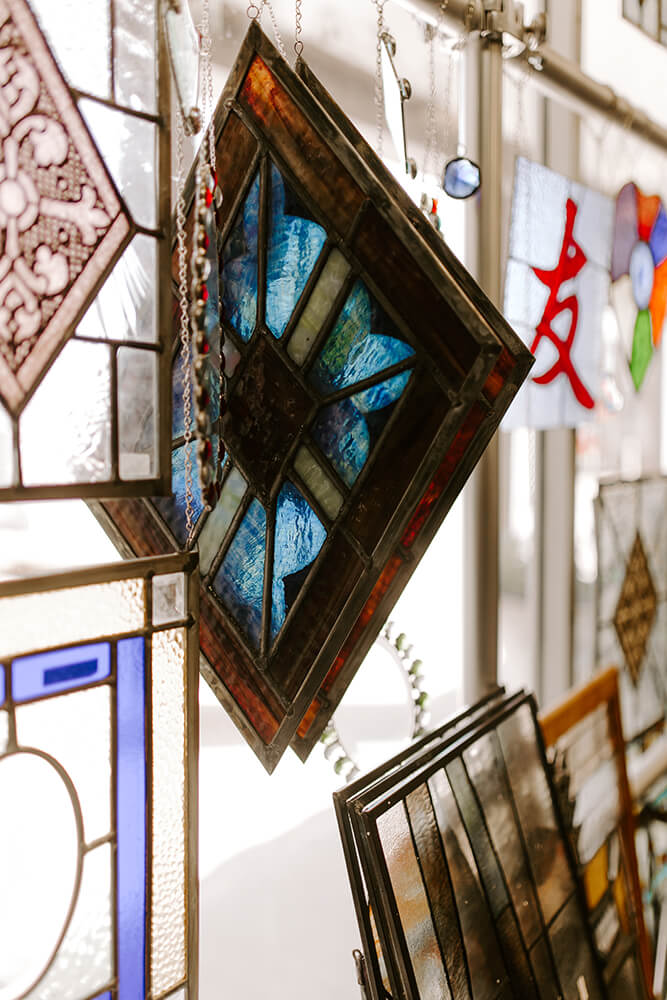 Among the uses today for stained glass is in home remodels, where it can elevate a home's appearance in ways that nothing else does. (Photo: Sarah Eliza Roberts)