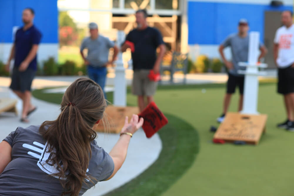 There are plenty of opportunities for Tulsans to have fun playing cornhole and meeting new people. And if someone has aspirations of competing on a state and national level, that path could be open as well. (Photo: Marc Rains)