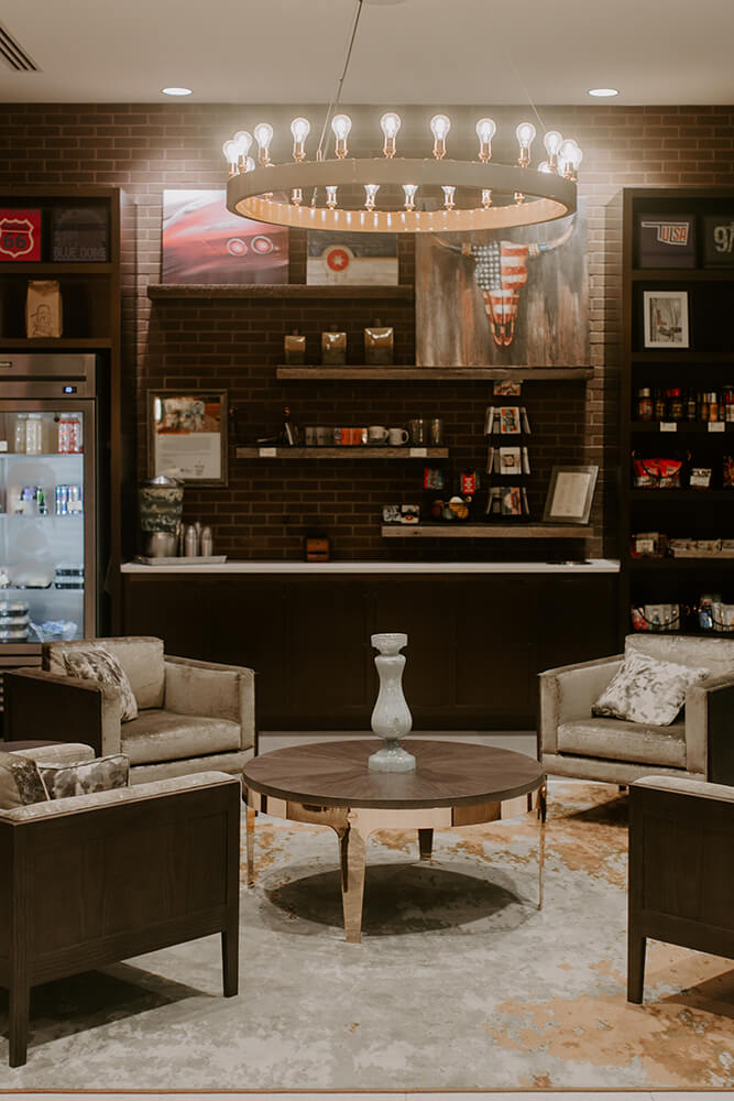 The hotel's clients include a mix of corporate guests, tourists, and Oklahomans who want a weekend getaway or a relaxing staycation. Visitors love the décor, which for the Tulsa location is focused on our state's rich oil history. (Photo: Sarah Eliza Roberts)