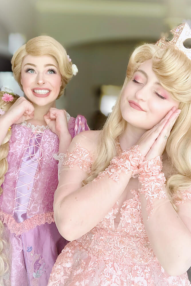 Allen and Goran agree there are a lot of fun moments playing princesses. Sometimes the questions the children ask test their knowledge of each princess; other times they catch them off guard.