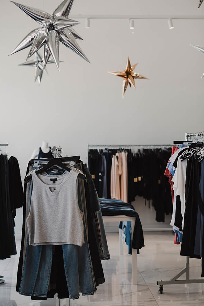 Most of the clothing, jewelry, and other items change seasonally, and the brands change too, though shoppers can undoubtedly expect to see Kendra Scott and Virgins Saints & Angels products regularly. (Photo: Sarah Eliza Roberts)