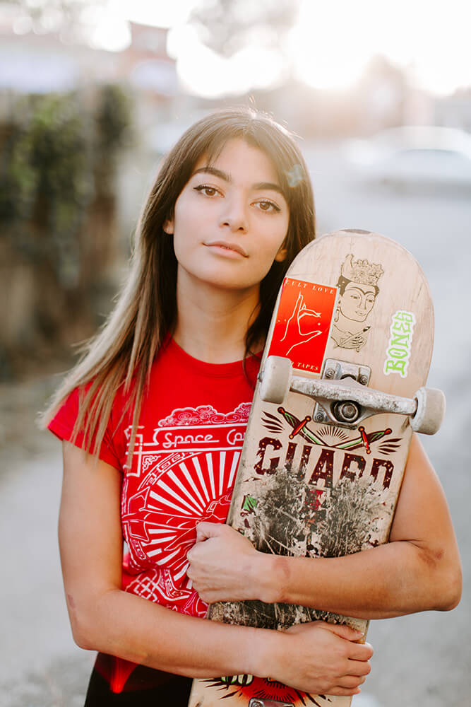 Even though she's only been skating for a year, skateboarding has changed her perception of the world. (Photo: Sarah Eliza Roberts)