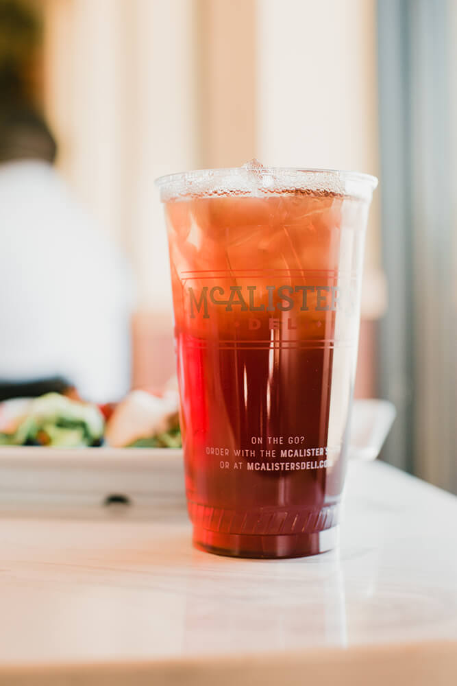McAlister's tea is a special blend from Lipton made just for McAlister's. (Photo: Sarah Eliza Roberts)