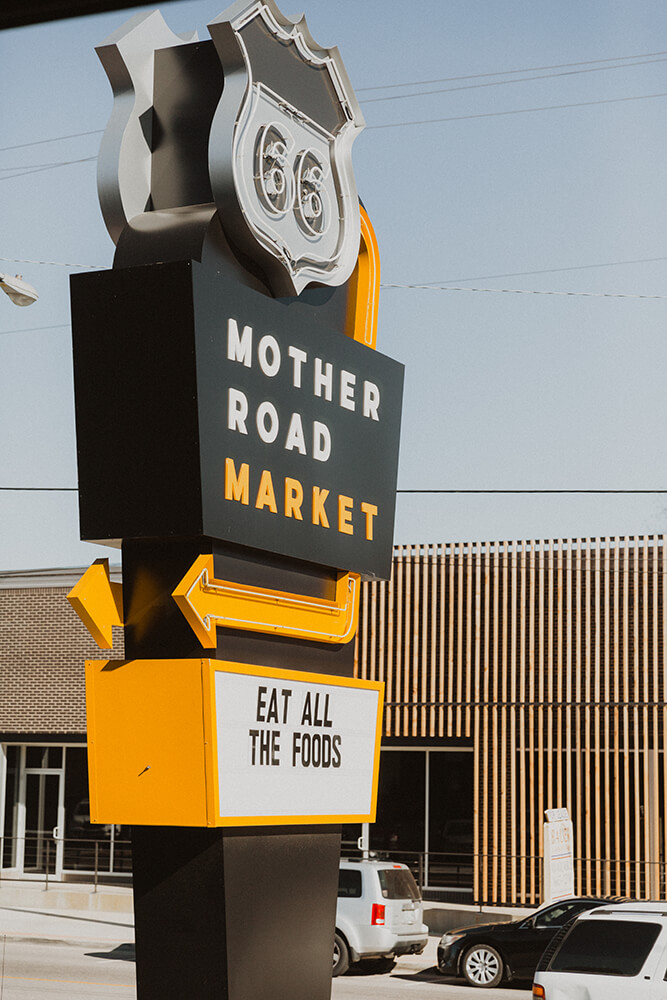 Developed by the Lobeck Taylor Family Foundation, a nonprofit dedicated to fostering entrepreneurial efforts in the Tulsa area, Mother Road Market launched in 2018 to much success. (Photo:Sarah Eliza Roberts)