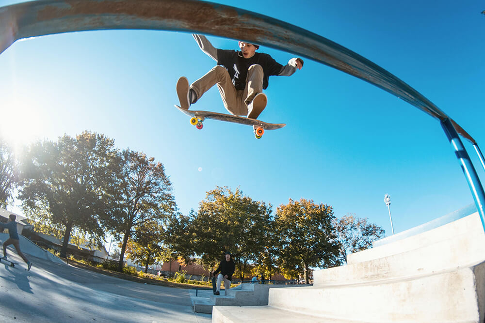 Aside from its obvious nod to improved balance and cardio, skateboarding provides an outlet for stress and an expression of creativity. (Photo: Chris Ray))