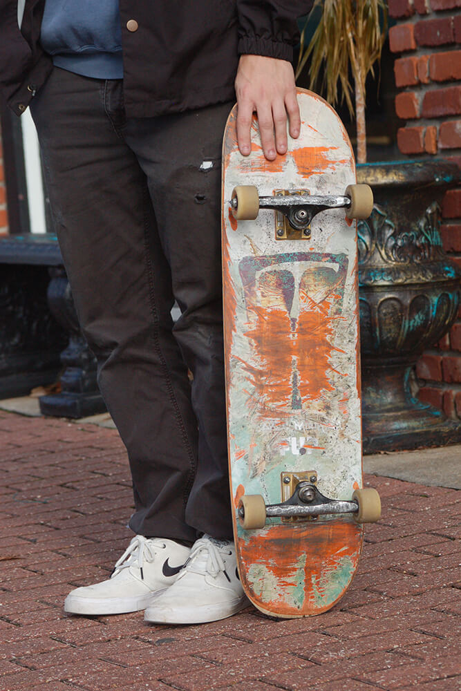 Skateboarding is a pretty inexpensive sport to pick up in comparison to others with a basic skateboard set up costing between $100-$200. (Photo: Jennifer Zehnder)