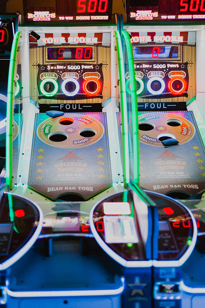 To enjoy a communal gaming experience, it's time to head to Cinergy and tackle their superbly fun arcade gaming floor. You'll be impressed with the number and style of games available to players of all ages. (Photo: Sarah Eliza Roberts)
