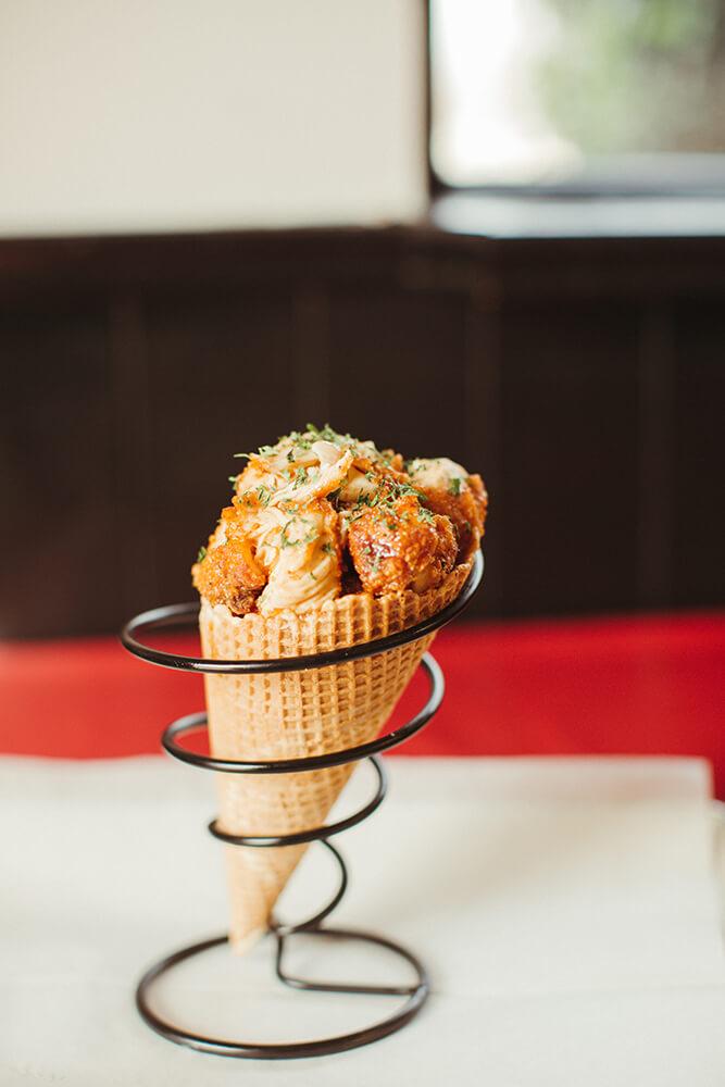Chicken in a Cone (Photo: Sarah Eliza Roberts)