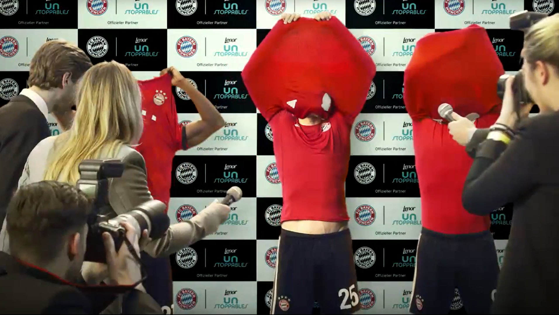 Campaign: Lenor Unstoppables featuring Müller, Alaba & Lewandowski: The Shirt Swap