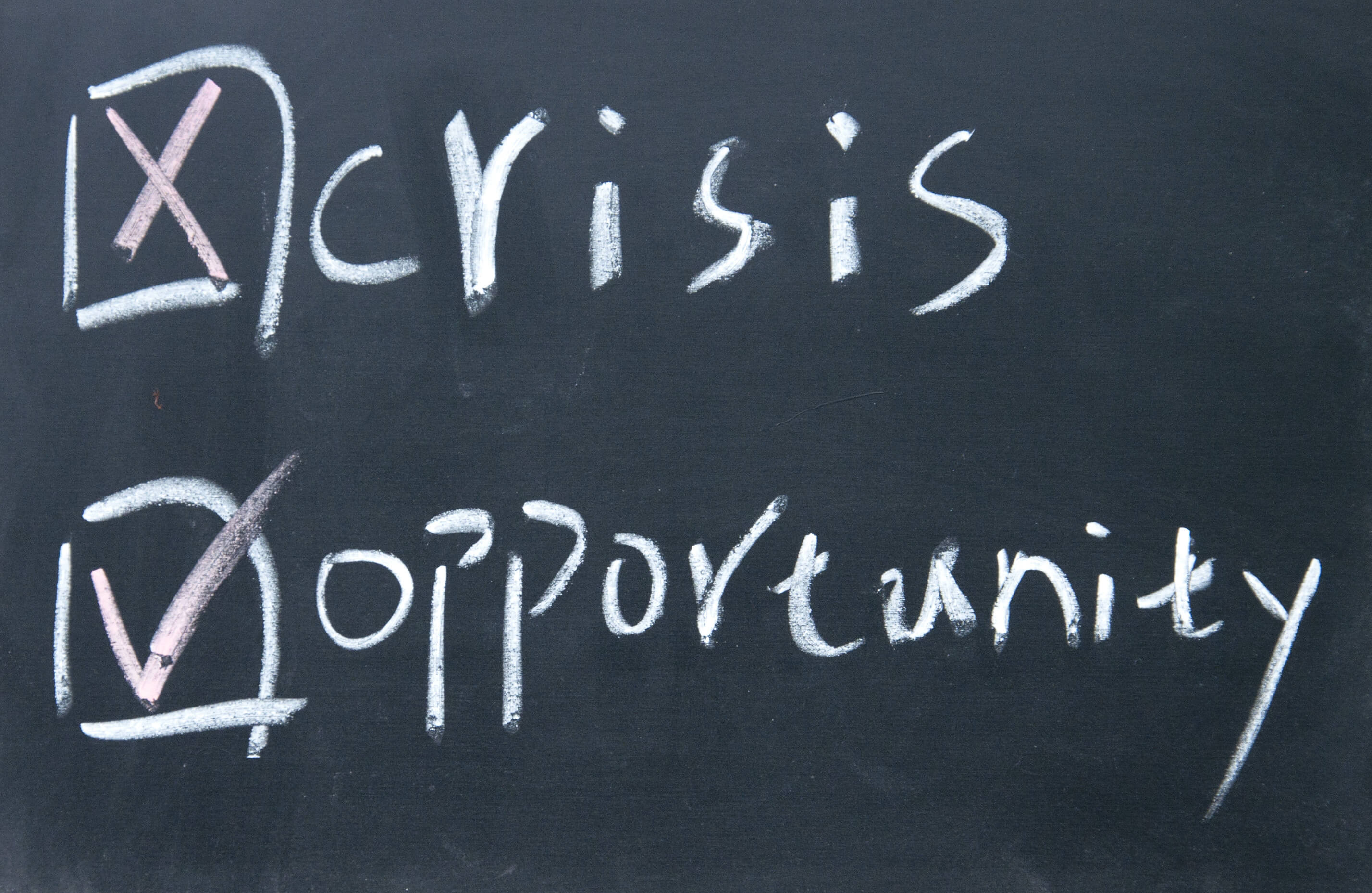 Crisis minus Fear = Opportunity