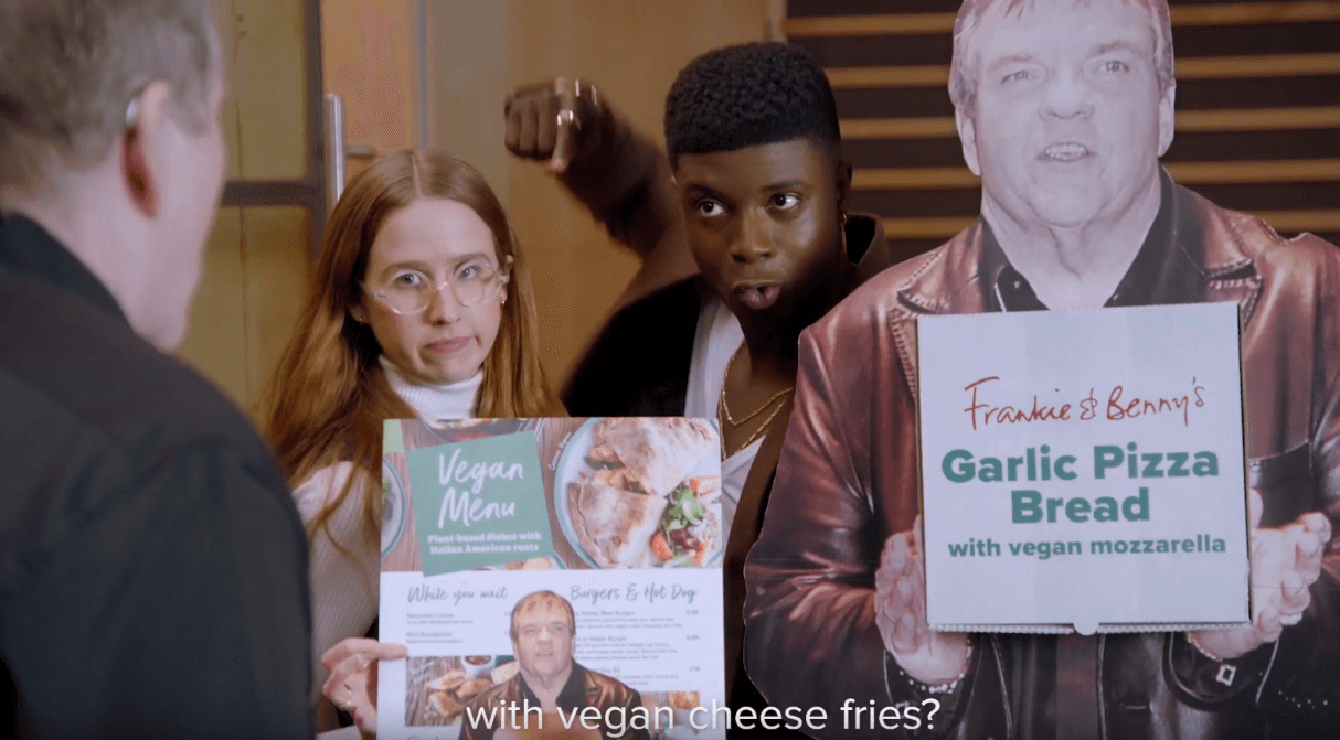Campaign: Frankie & Benny's - Meat Loaf would do anything for veg