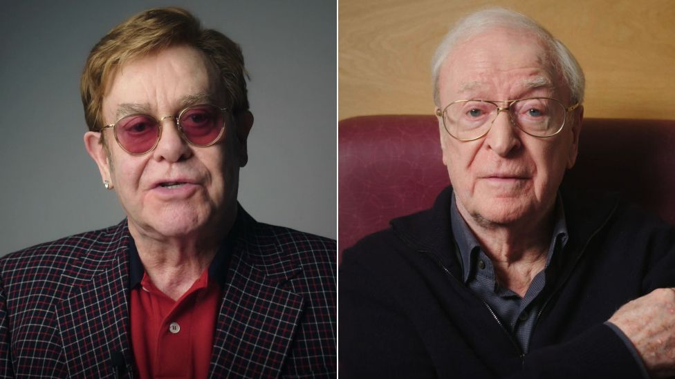 Elton John and Michael Caine front NHS vaccine ad