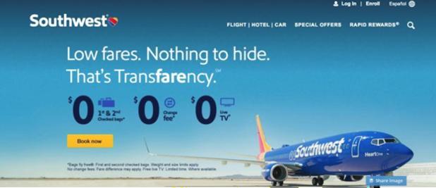 Southwest Tranfarency Kampagne