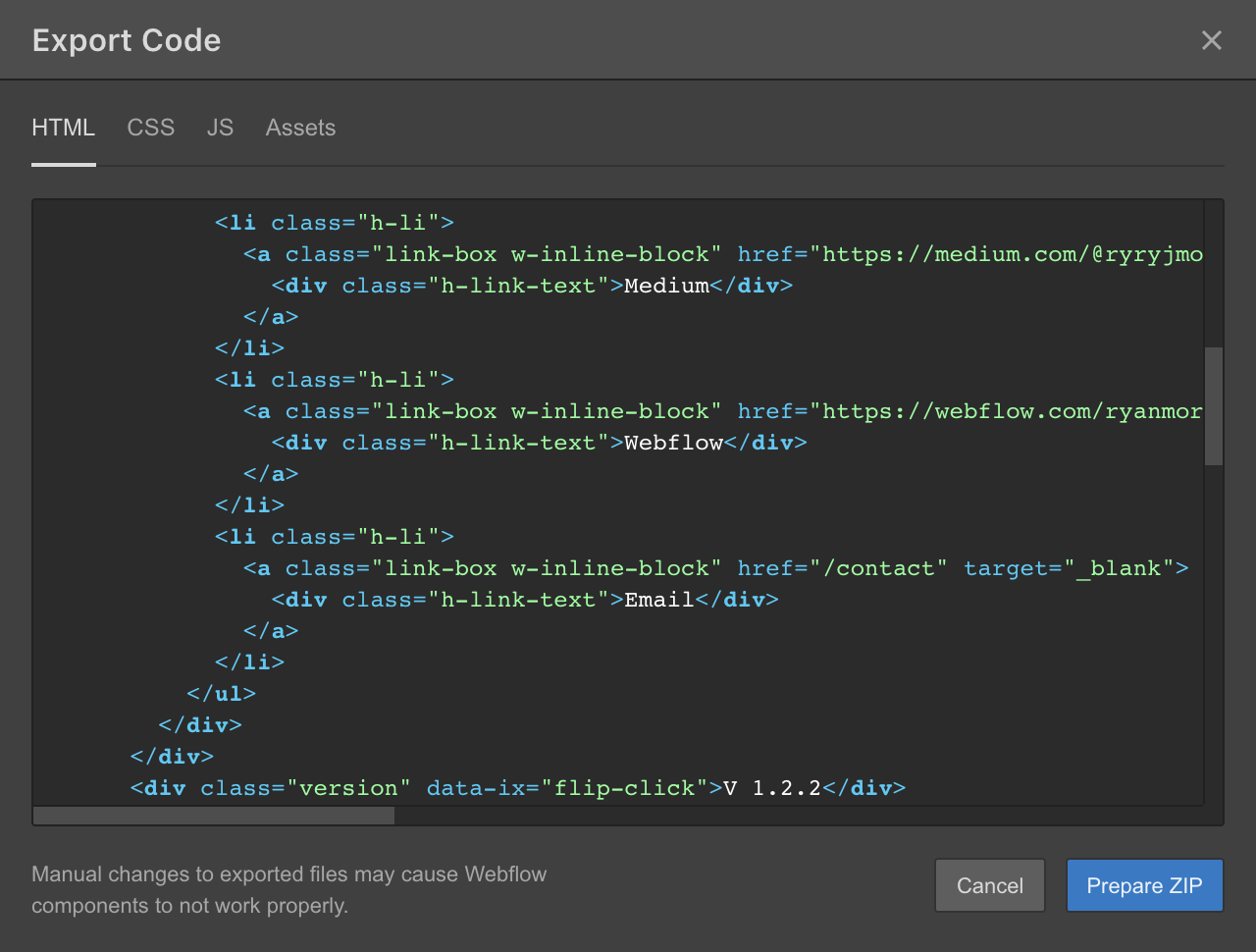 Export clean, semantic code that even your developers will love