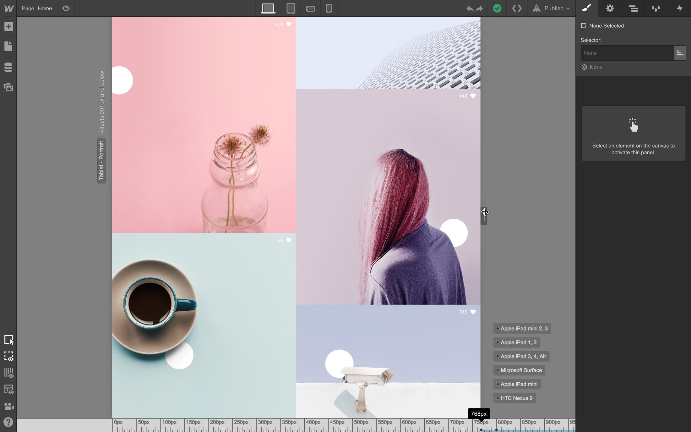 Master responsive design in Webflow