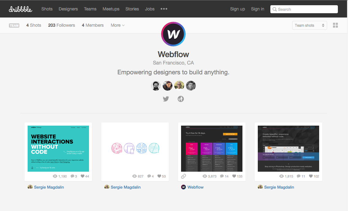 Webflow on Dribbble