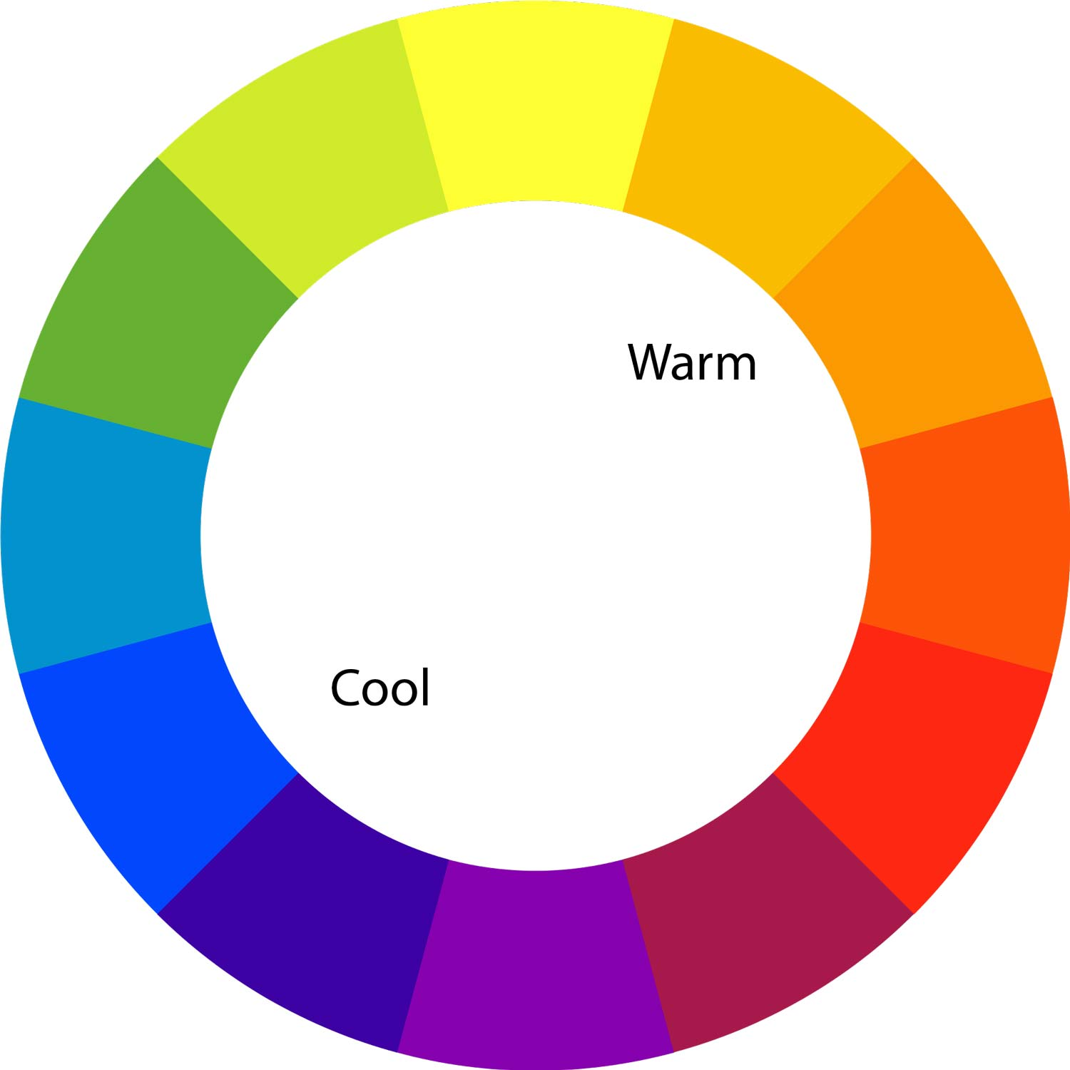 hot and cold color wheel