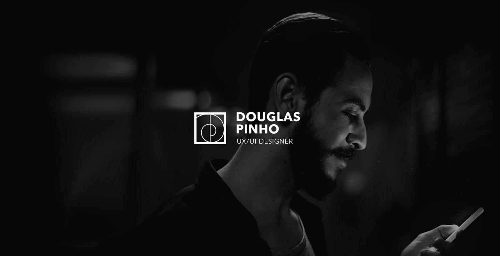 A portrait humanizes Douglas Pinho's portfolio site