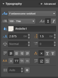 Styling FontAwesome's typography